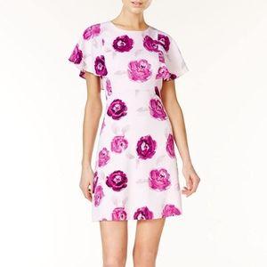 Kensie Garden Rose Floral Print Dress, Size M